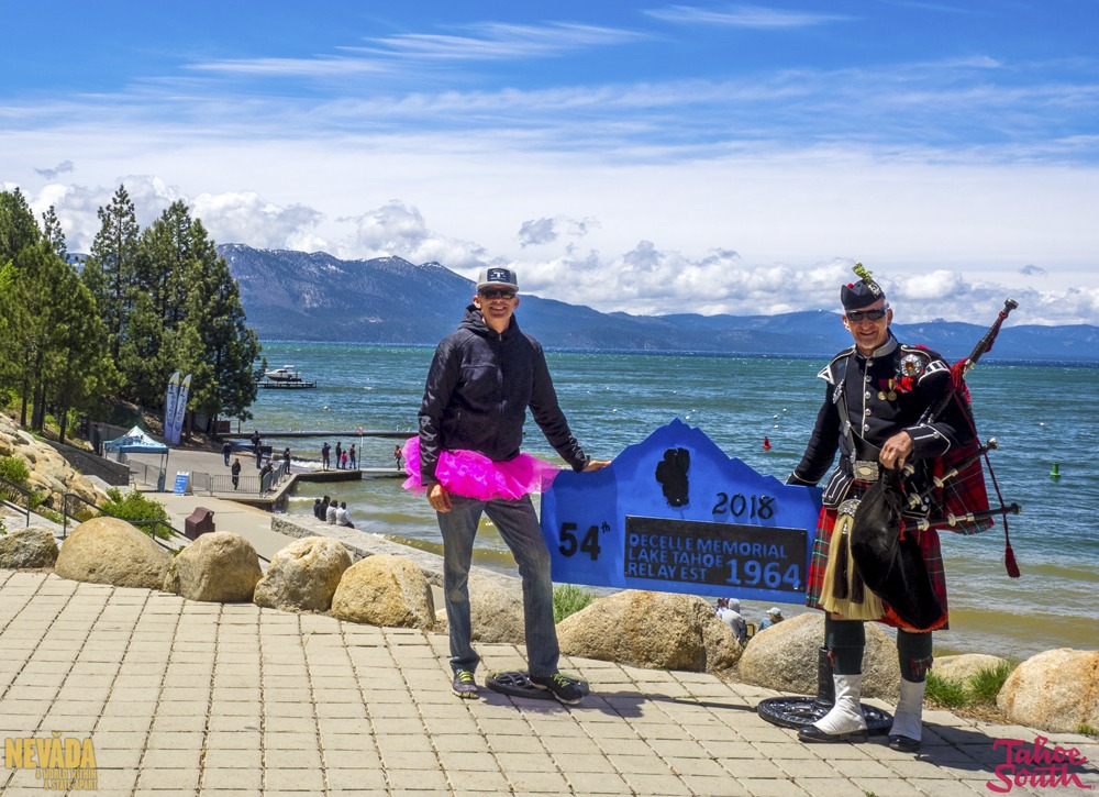 Bagpiper for hire at DeCelle Memorial Lake Tahoe Relay
