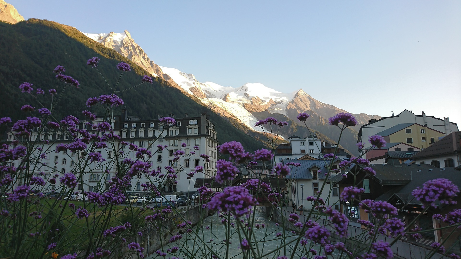 Chamonix in Spring prior to the Mont Blanc Marathon