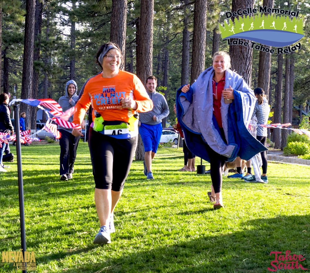 family running lake tahoe relay race